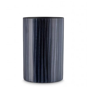 Mc Project Store Skjalm Vase Enamel Stripes Black Blue