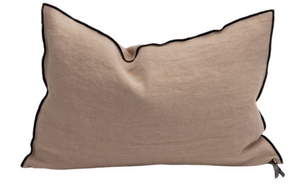 Mc Project Store Coussin Lin Stone Washed Sable