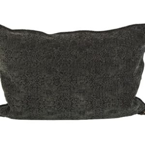 Mc Project Store Coussin Vice Versa Jacquard Stone Washed Kilim Charbon
