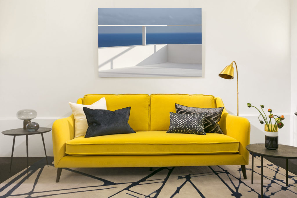 Sofa Sullivan Yellow Velvet Designer Guilds