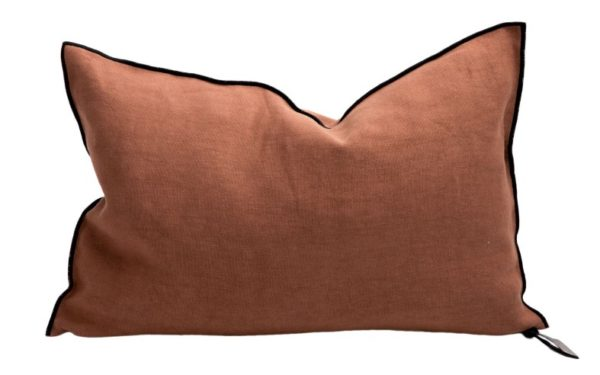 Mc Project Store Coussin Lin Stone Washed Sienne